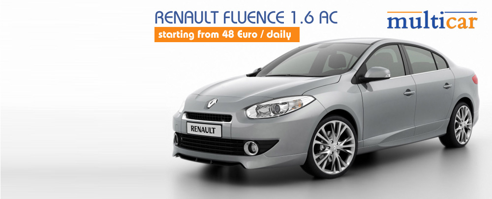 Renault Fluence 1.6 AC starting from 30 Euro / daily