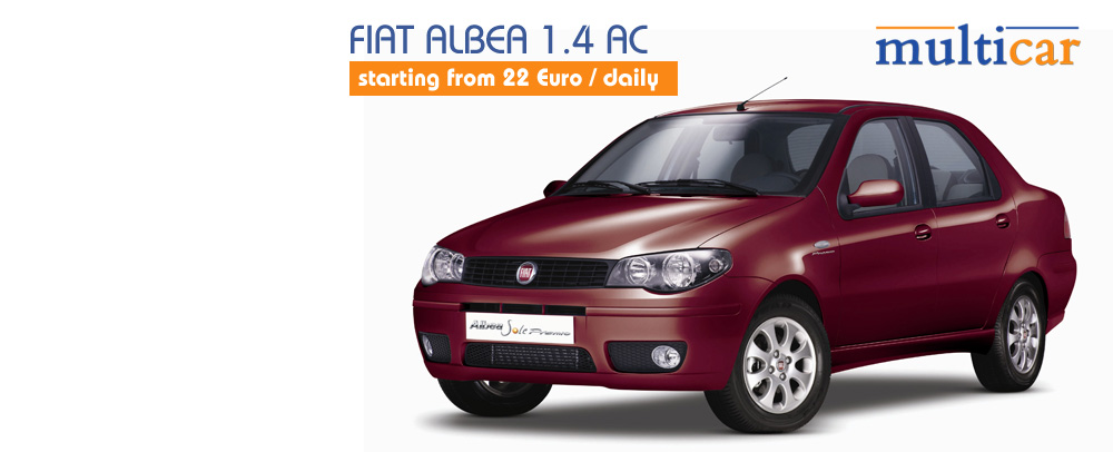 Fiat Albea 1.4 AC starting from 17 €