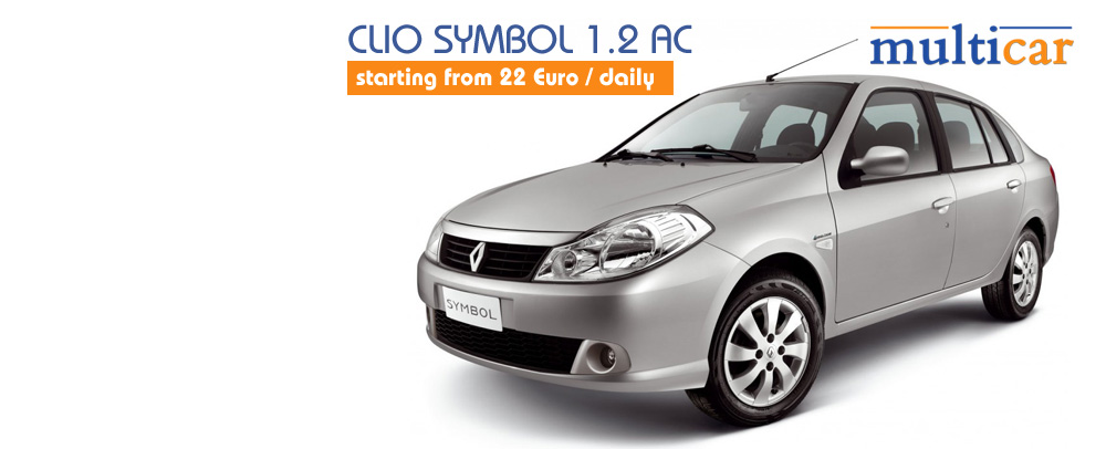 Renault Symbol 1.2 AC starting from 17 €